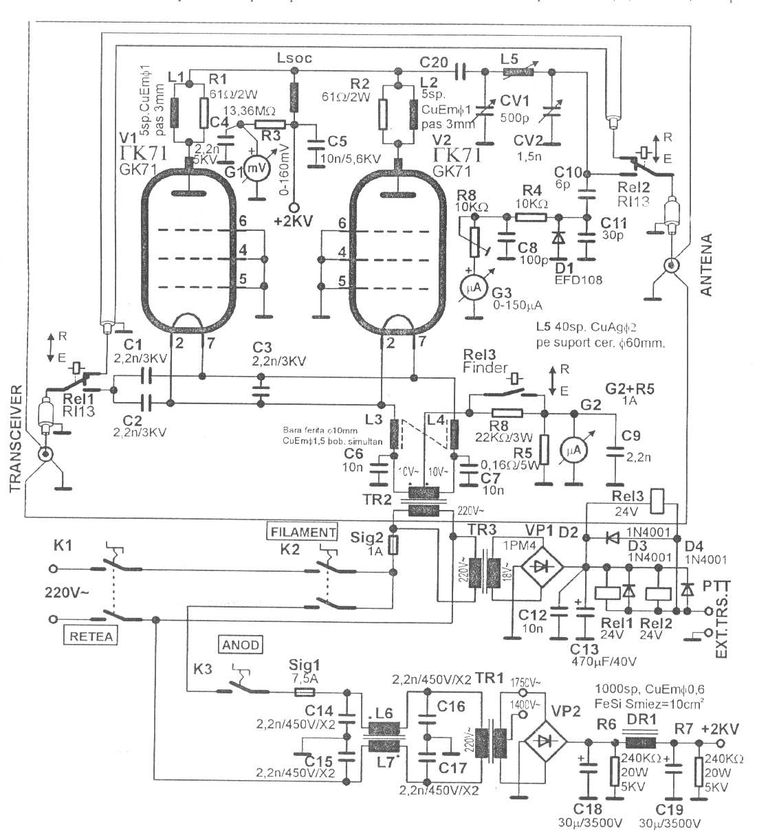 Index Of Eca Fail Lamp Fm Circuit Page 2 Rf Circuits Nextgr Qro Gk71 128k